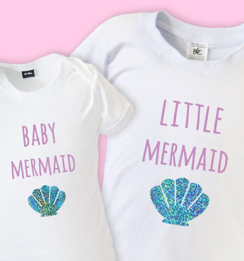 Big Sister Little Sister Mermaid T Shirt Amp Babygrow