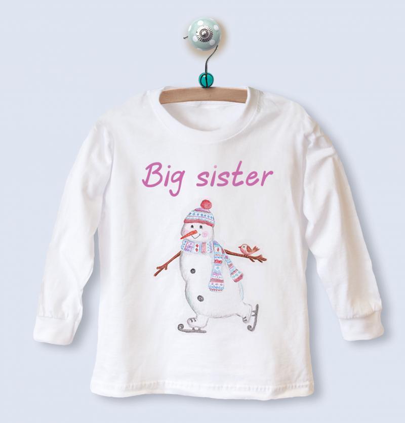 big sister christmas top
