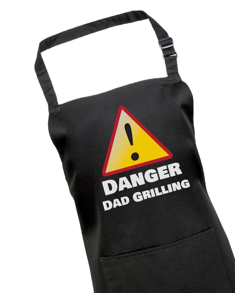 Danger, Dad Grilling BBQ Apron