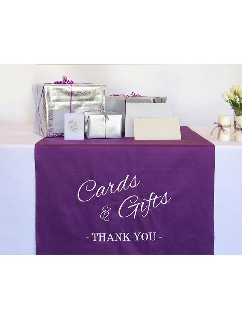 Embroidered Wedding Gift Table Runner