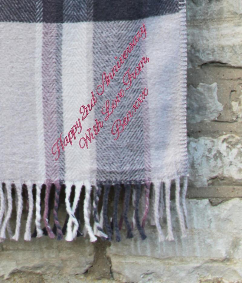 Dusky Pink, Grey & Beige Blanket