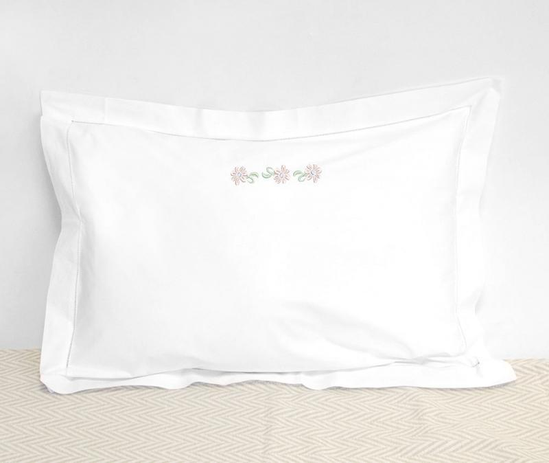 embroidered white pillow cases