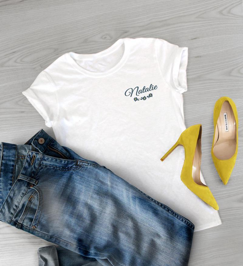embroidered ladies t-shirt
