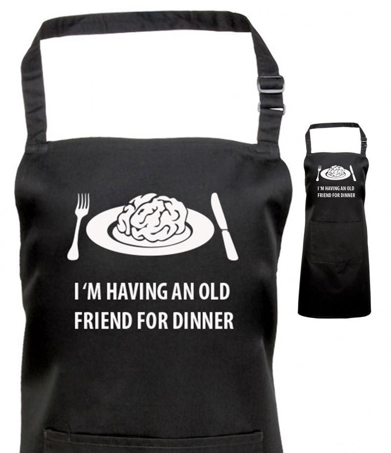 Hannibal gifts, Black Printed Apron