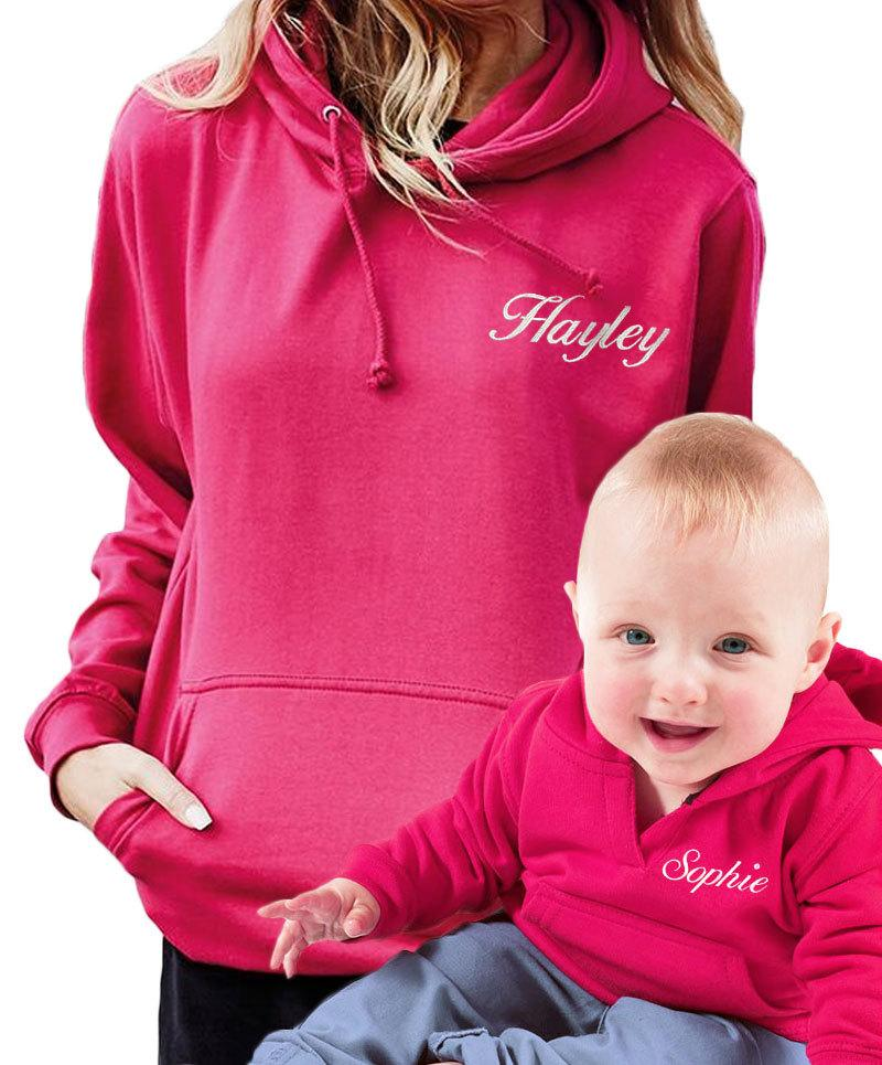 mother and daugher matching hoodies