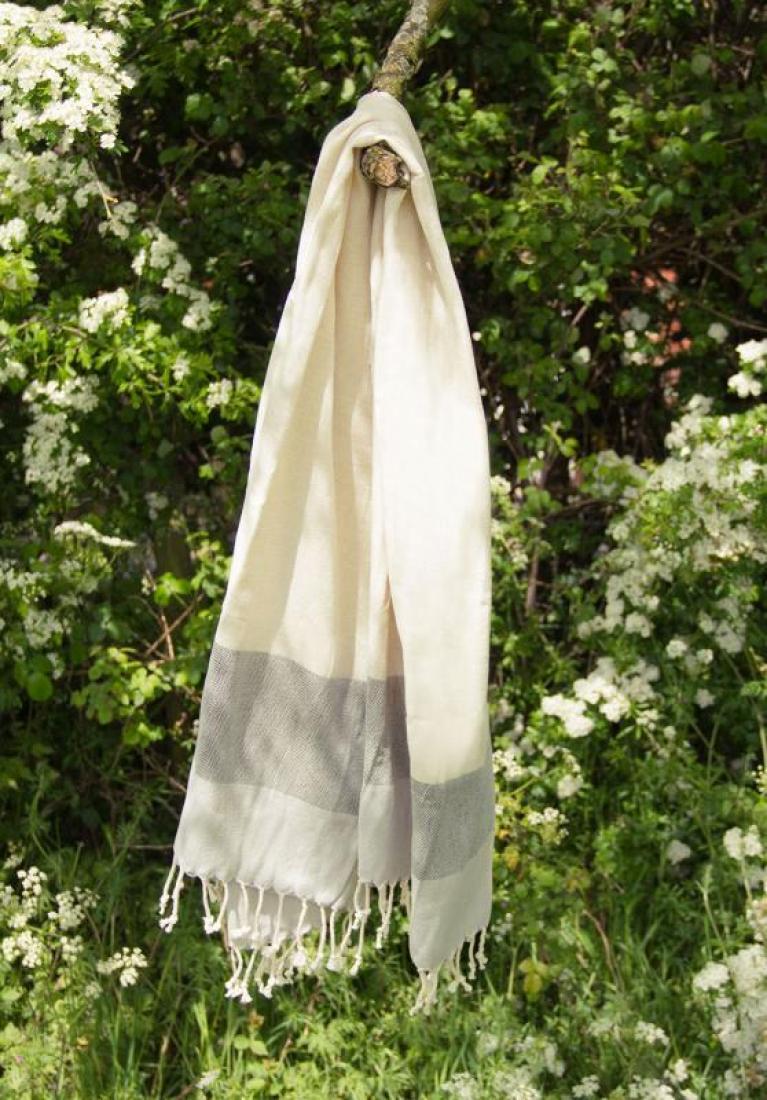 Personalised Pebble Grey Beach Towel, Bamboo Cotton