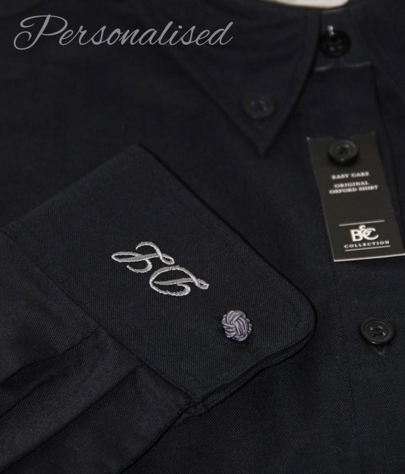Personalised Monogrammed Black Shirt