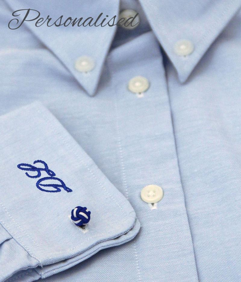 Personalised Monogrammed Blue Shirt