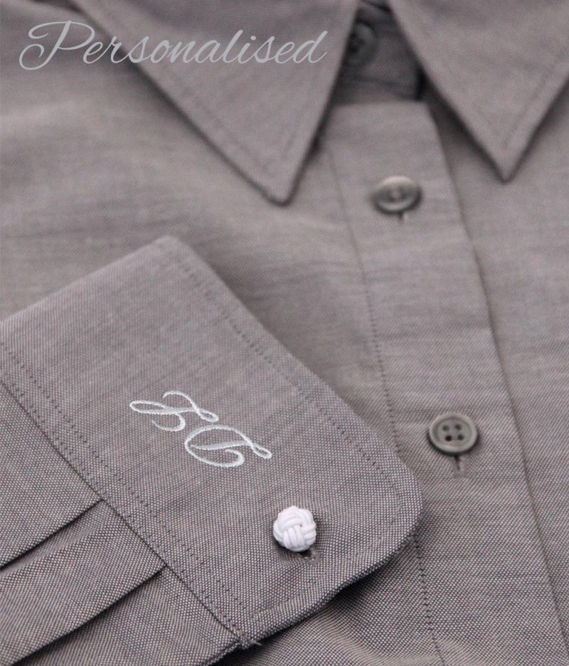 Personalised Monogrammed Grey Blouse