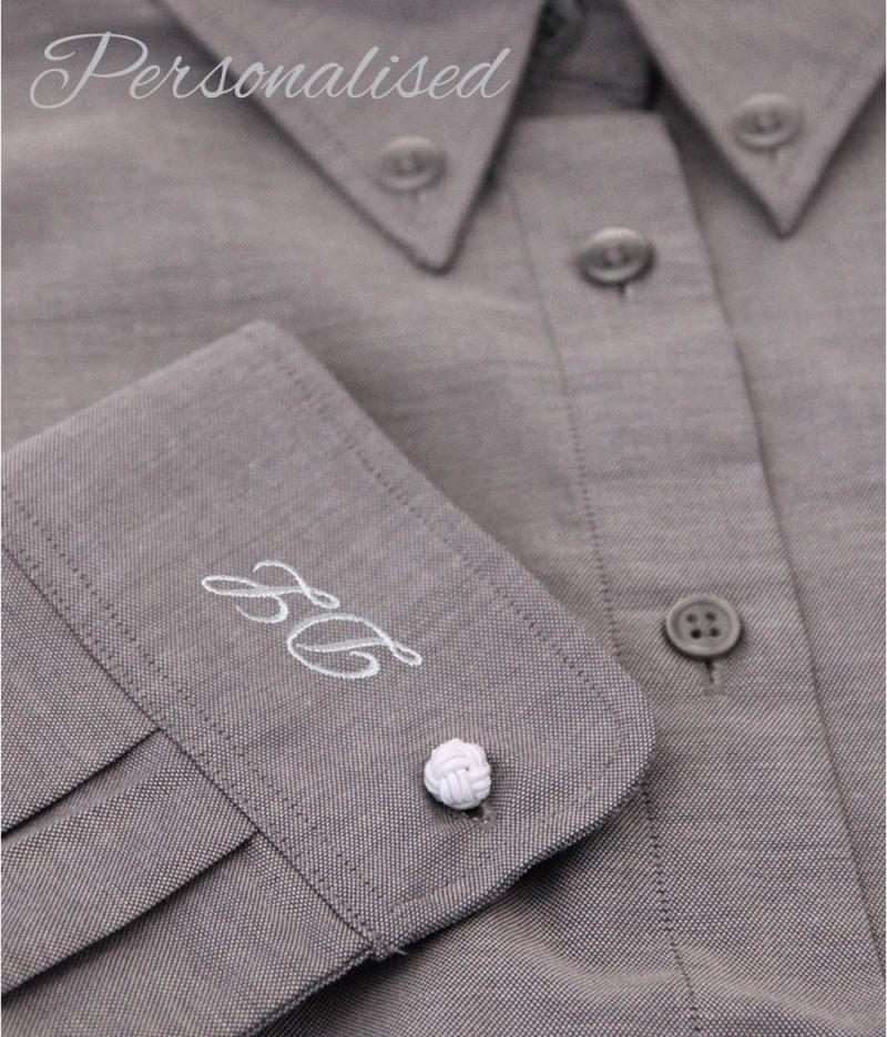 Personalised Monogrammed Grey Shirt