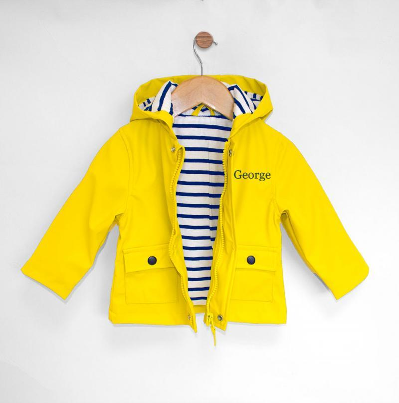 personalised baby raincoat