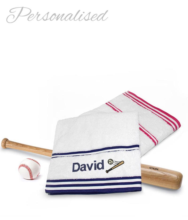 Personalised Baseball Towel