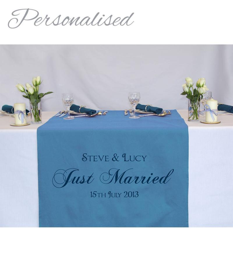 Personalised Printed Wedding Table Runner