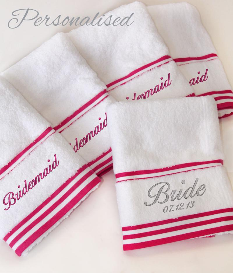 Bridesmaid Wedding Towels