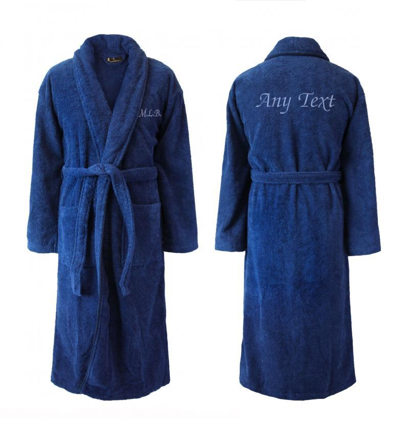 Personalised Robes With Names Dark Blue For Him Shawl
