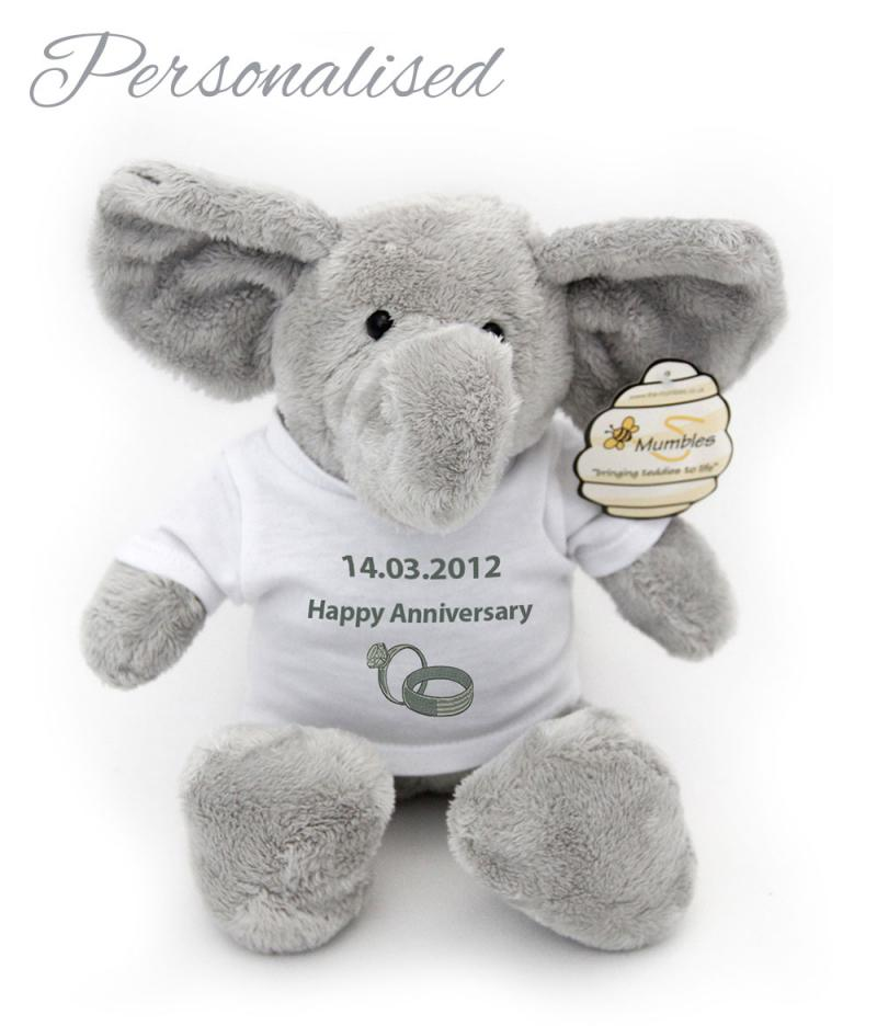 Personalised Augustus The Ellephant Teddy Bear With