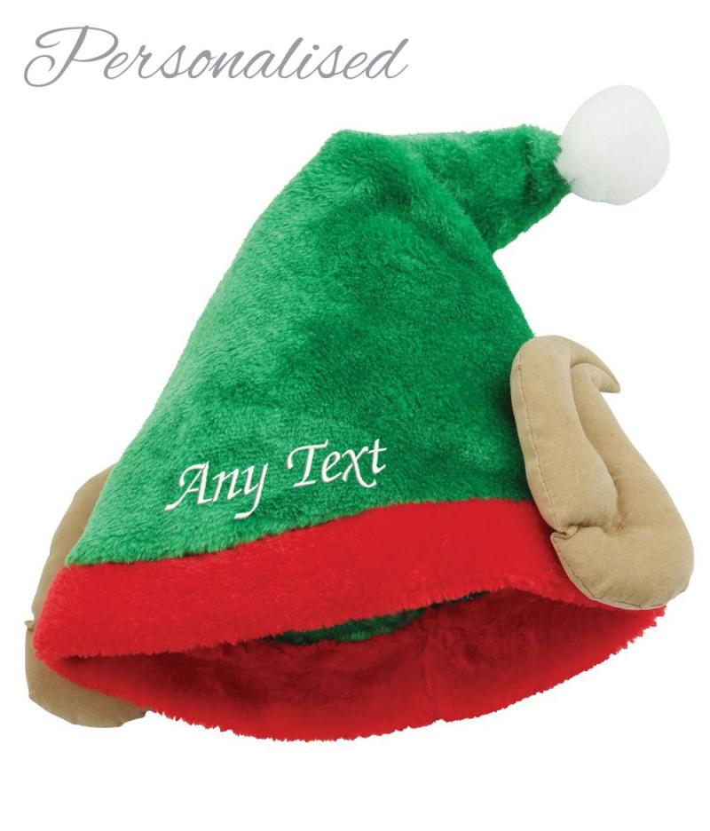 Personalised Plush Elf Hat With Ears