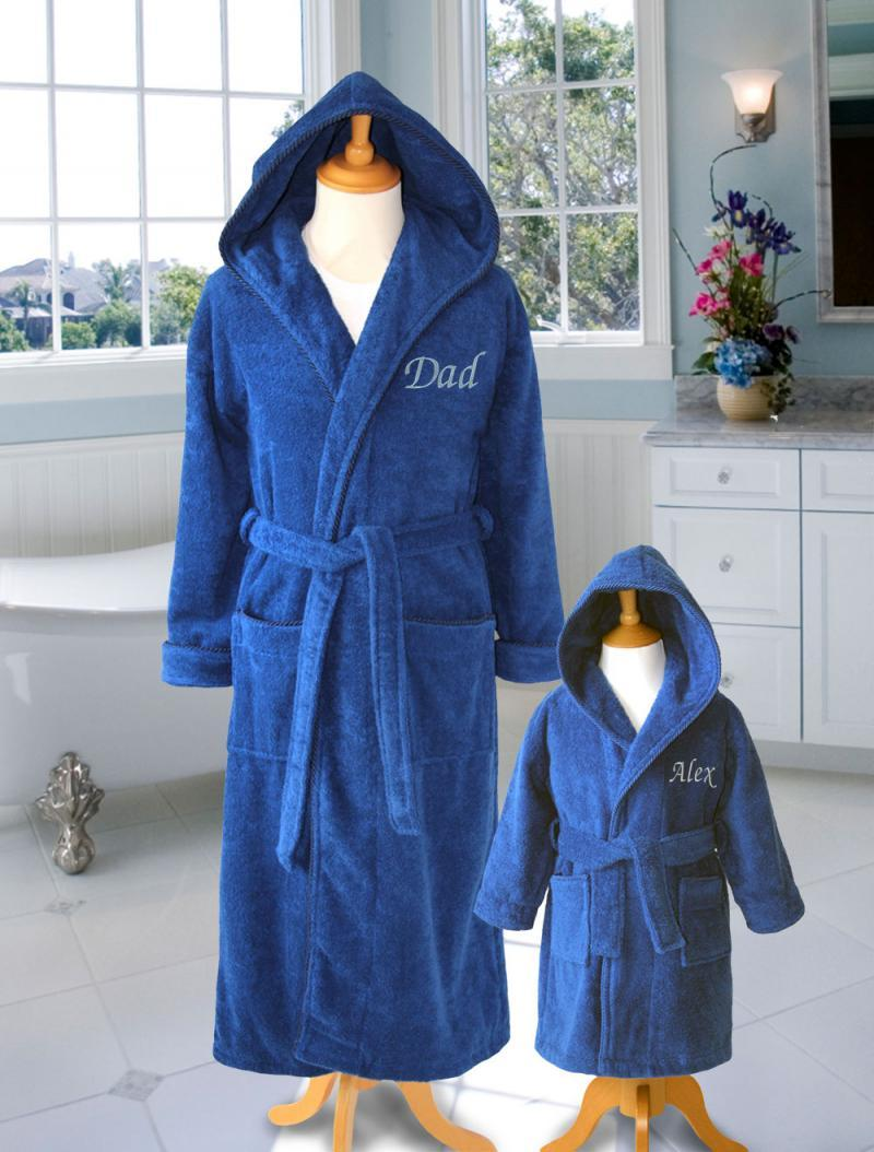 father and son bathrobes