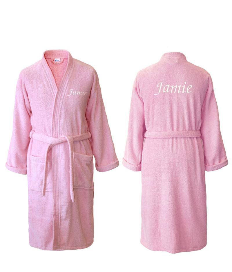 pink towelling robes