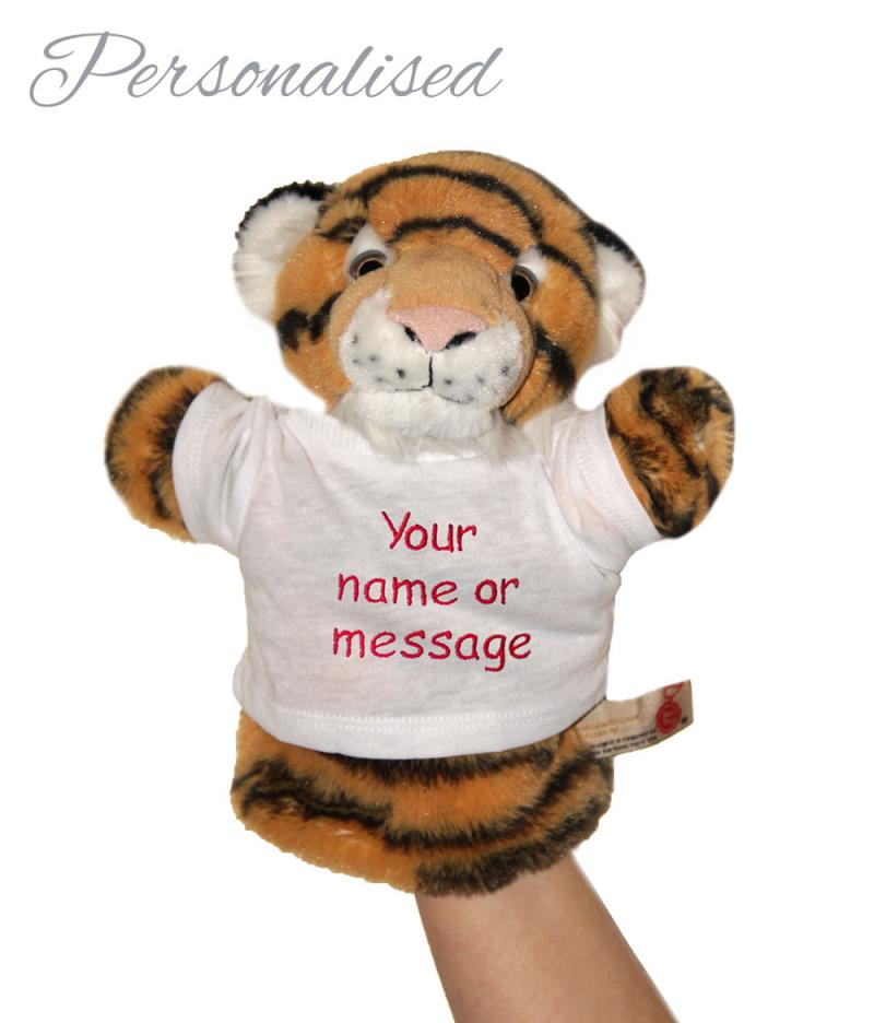Personalised Hand Puppet, Terry The Tiger