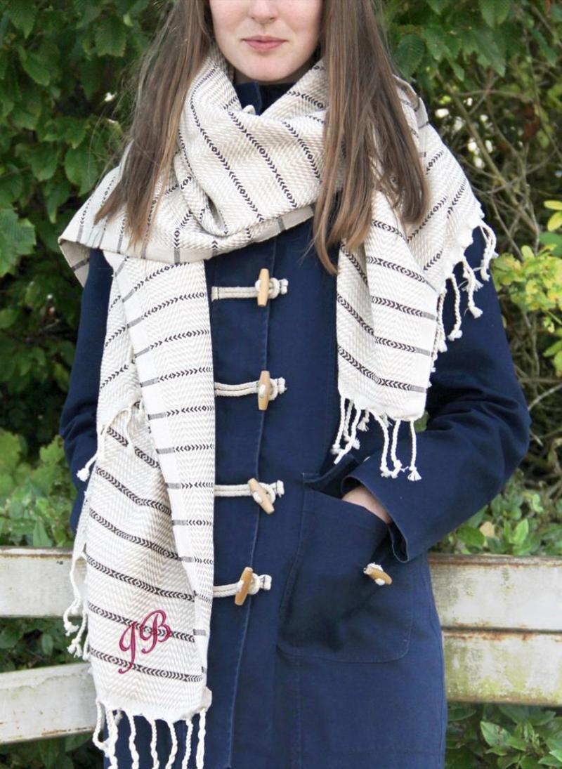 blanket scarves beige