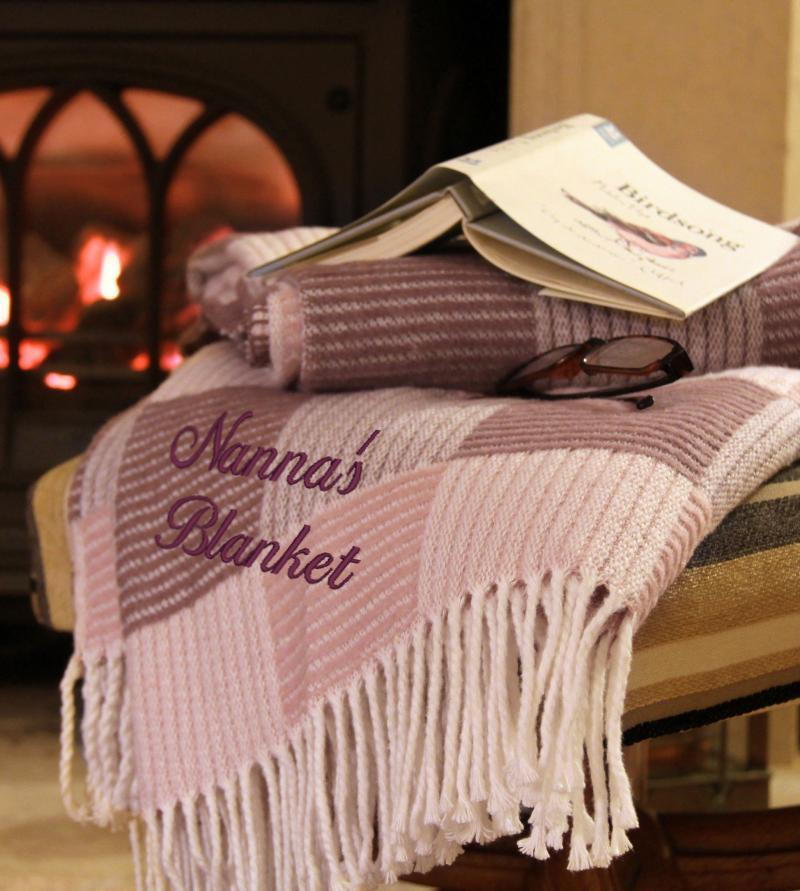 personalised throw blanket