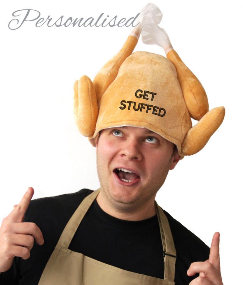Personalised Christmas Turkey Hat