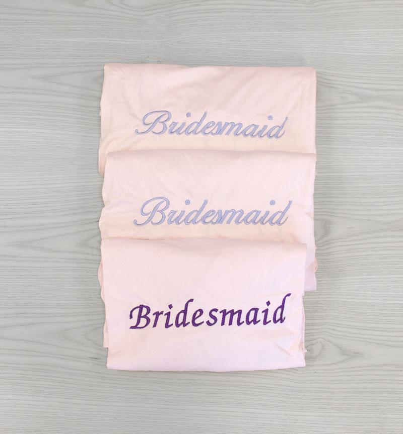 bridesmaid getting ready gowns