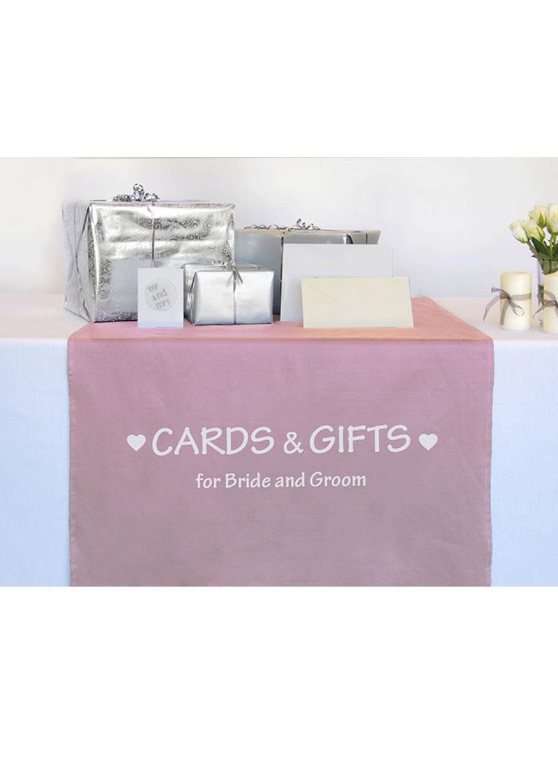 Printed Wedding Gift Table Runner