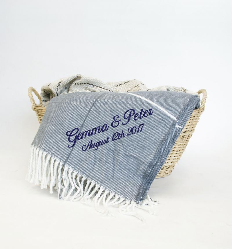 throw blanket, slate blue