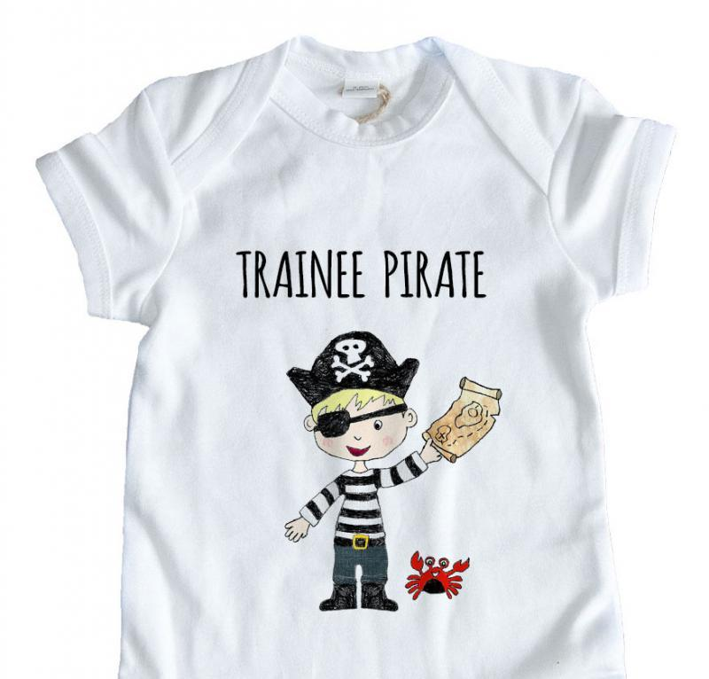 trainee pirate babygrow