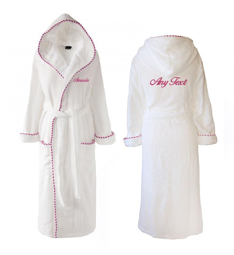 Towelling wedding dressing gowns