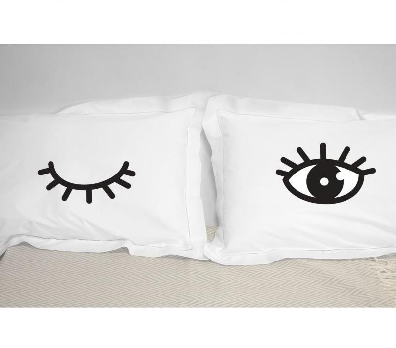 winking eyes pillows