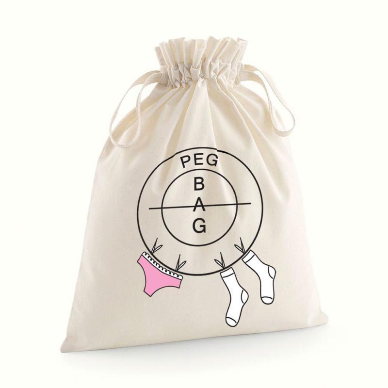 printed peg bag