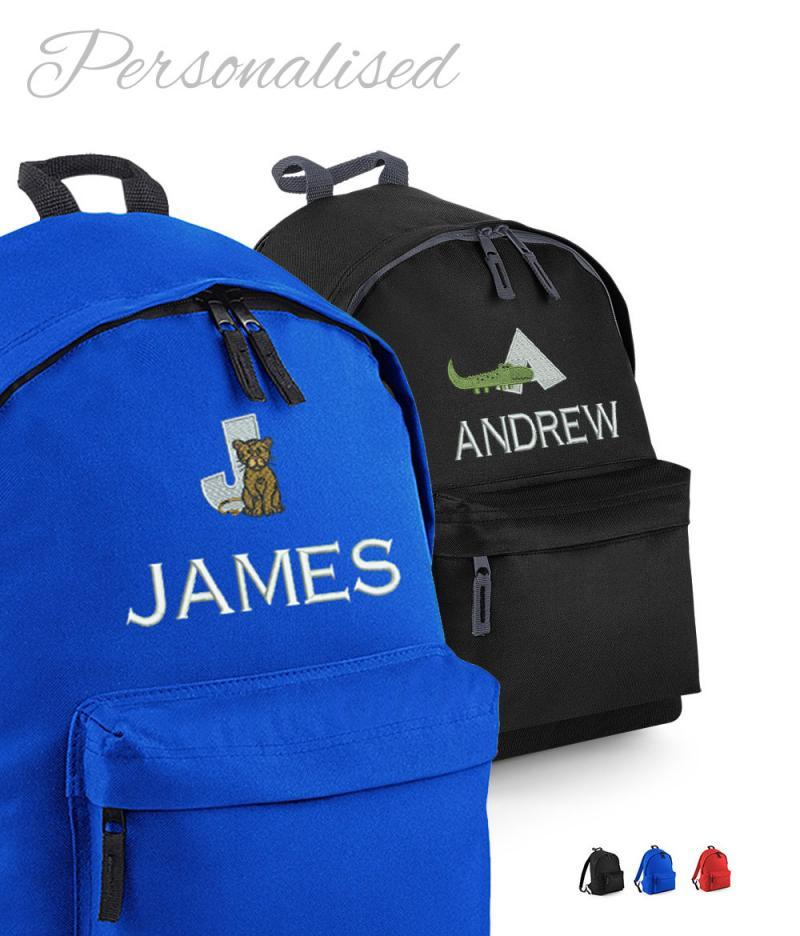Personalised School Rucksack with Animal Alphabet
