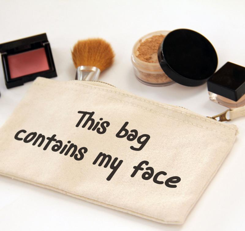 This bag contains my face, Zipper Canvas Pouch Bag
