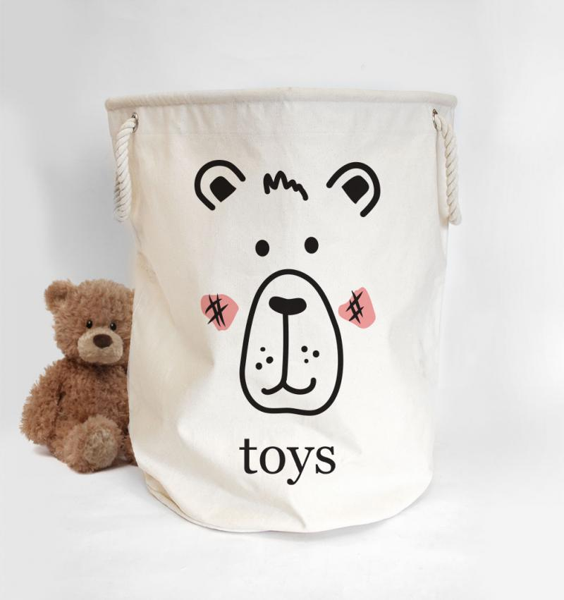 toys basket with bear design