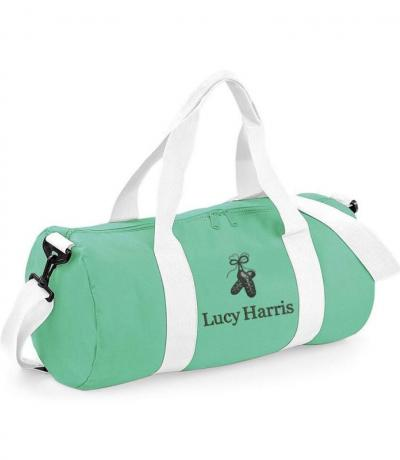 Mint green Irish dancing duffel