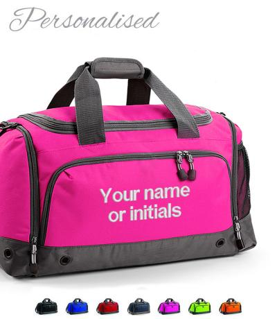 Personalised Embroidered Holdall Gym Bag