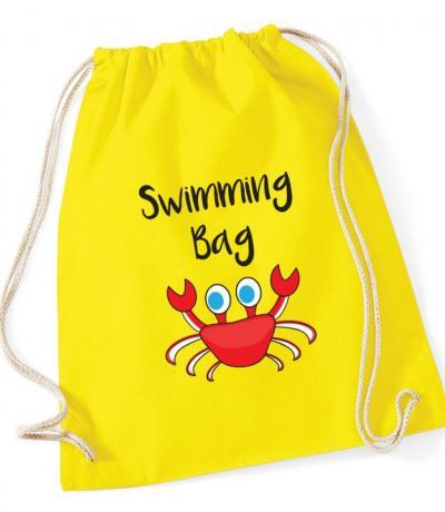 Kids drawstring swimming bag