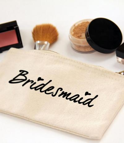 Bridesmaid Zipper Canvas Make-up Bag