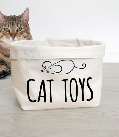 cat toys basket printed