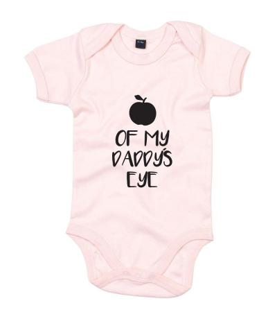 Apple of my Daddy's Eye baby pink printed babygrow