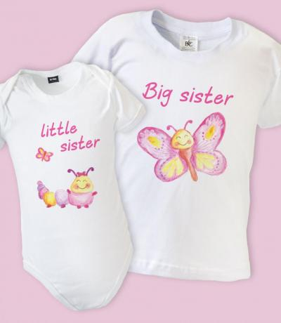 Big Sister Little Sister Matching T-shirt Outfits