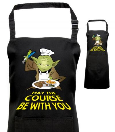 Printed Yoda Apron, Fan of Star Wars