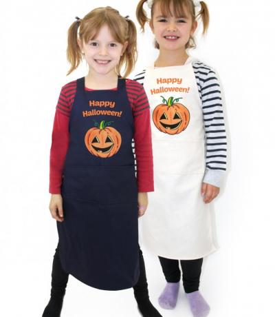 Pumpkin Carving Happy Halloween Children's Aprons