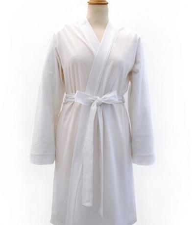 bride white dressing gown