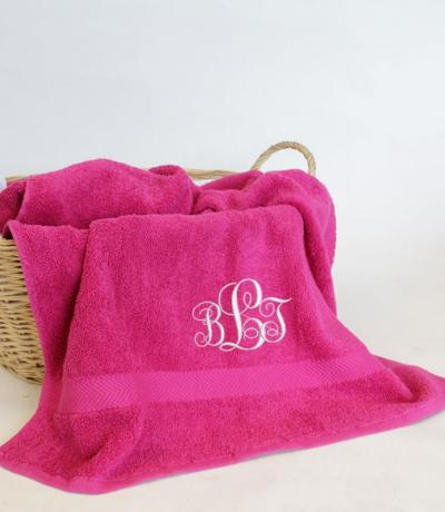 Personalised monogram towel