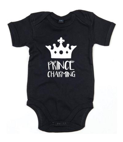Prince Charming Babygrow in Black
