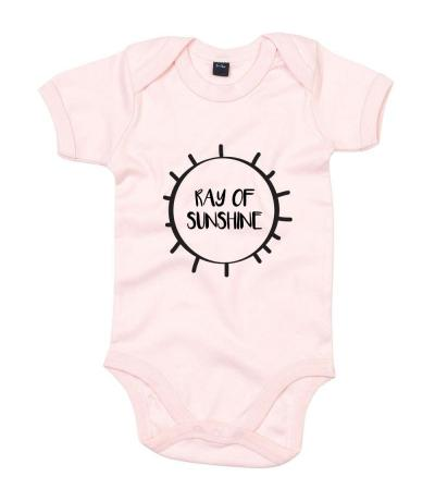 Ray of Sunshine Babygrow in Light Pink